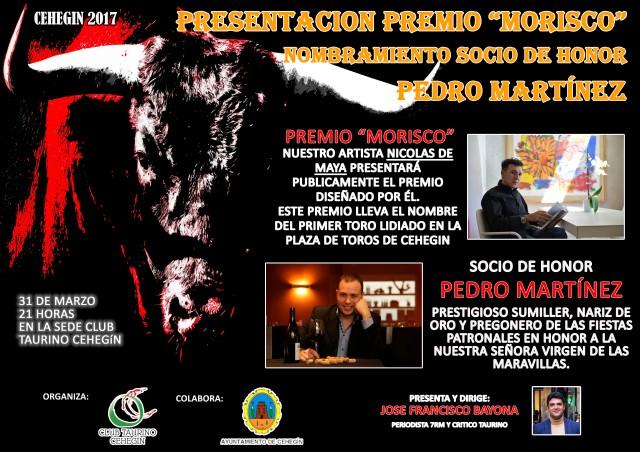 CARTEL PREMIO MORISCO Y SOCIO DE HONOR