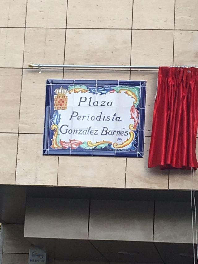 PLAZA PERIODISTA GONZALEZ BARNÉS