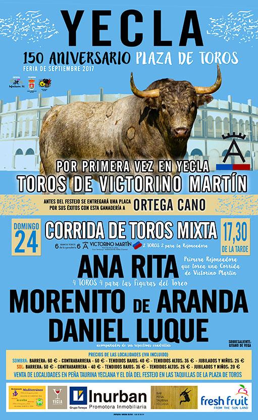 cartel toros 24 de septiembre yecla