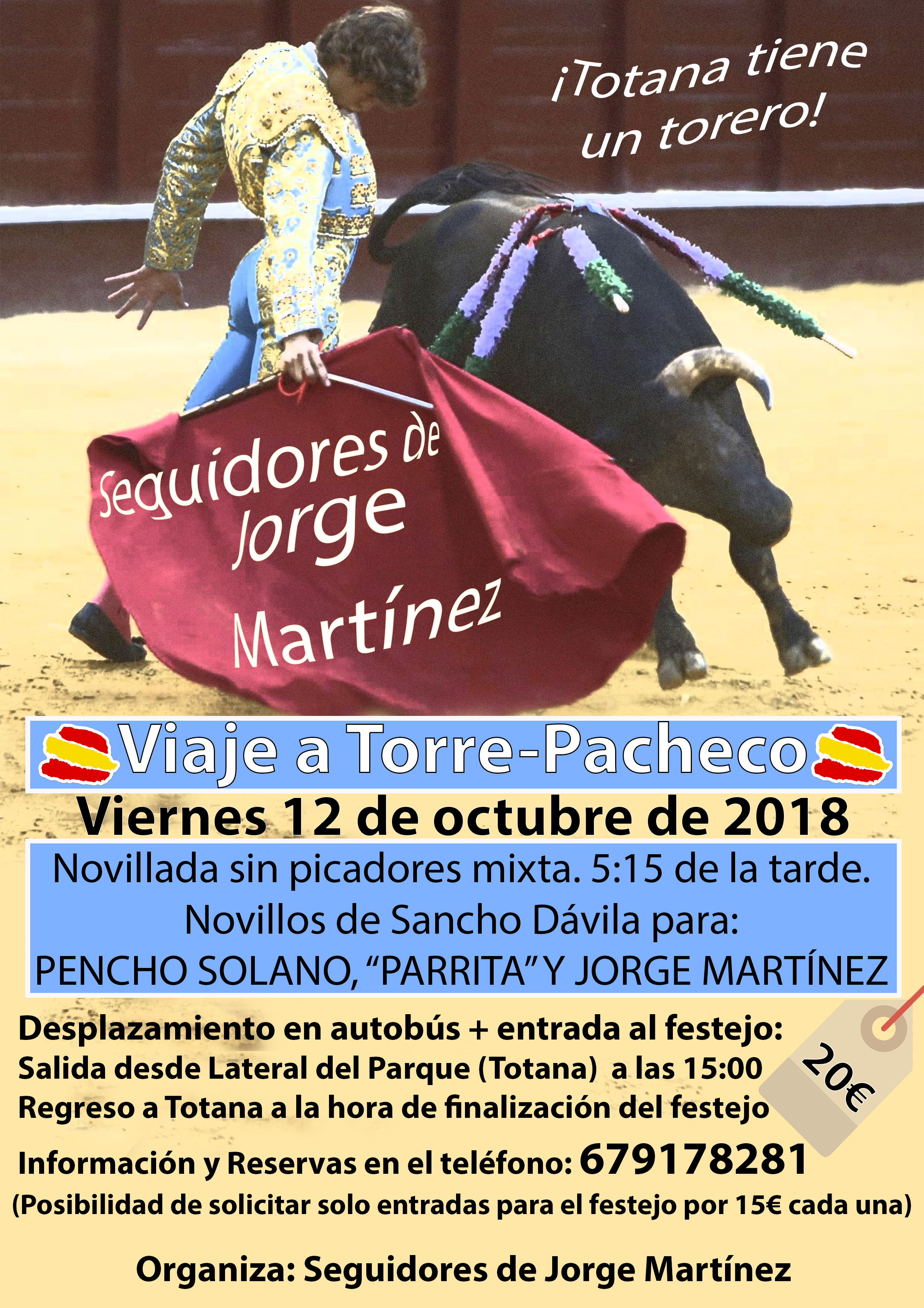 Viaje Torre pacheco Jorge Martínez
